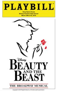 Beauty and The Beast Play Bill